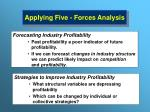 applying five forces analysis