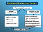 identifying key success factors