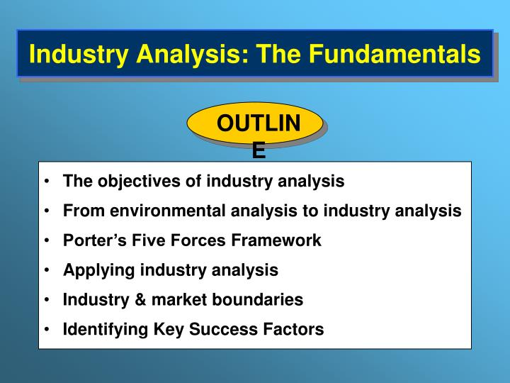 industry analysis the fundamentals n.