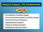 industry analysis the fundamentals