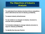 the objectives of industry analysis