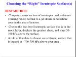 choosing the right isentropic surface s35