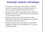 isentropic analysis advantages