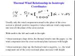 thermal wind relationship in isentropic coordinates