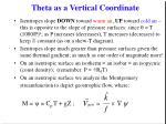 theta as a vertical coordinate7