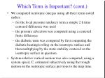 which term is important cont