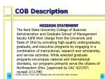 cob description
