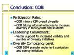 conclusion cob