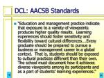 dcl aacsb standards