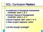 dcl curriculum masters
