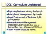 dcl curriculum undergrad