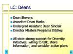 lc deans