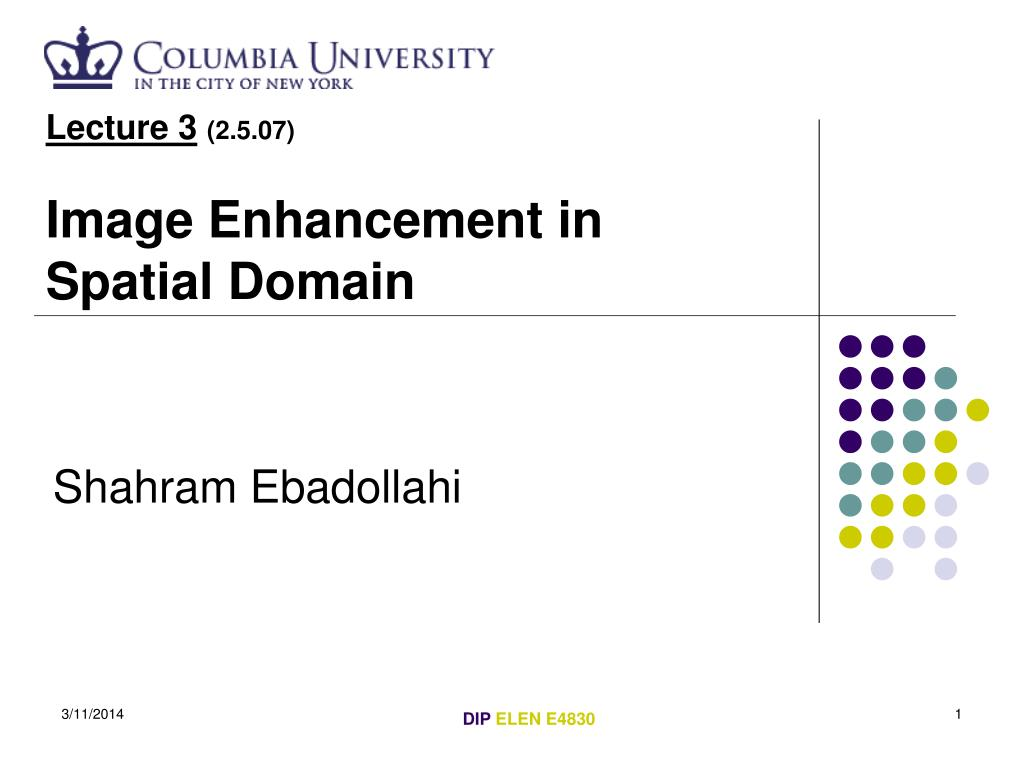 lecture 3 2 5 07 image enhancement in spatial domain l.