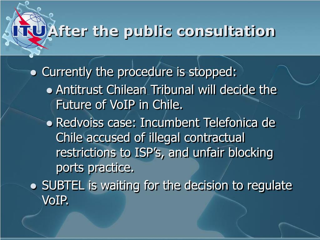 After the public consultation
