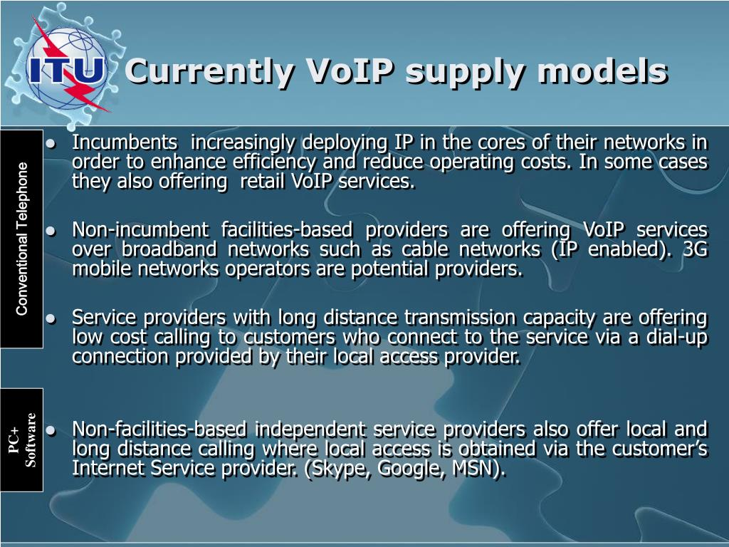 Currently VoIP supply models