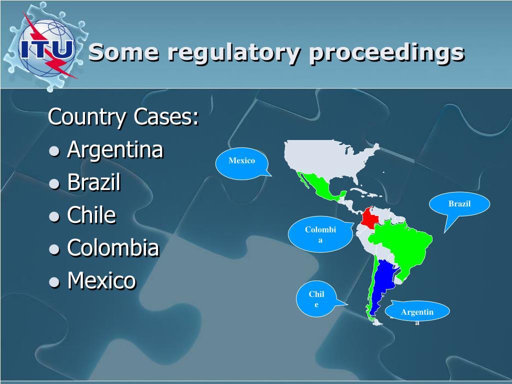 Some regulatory proceedings