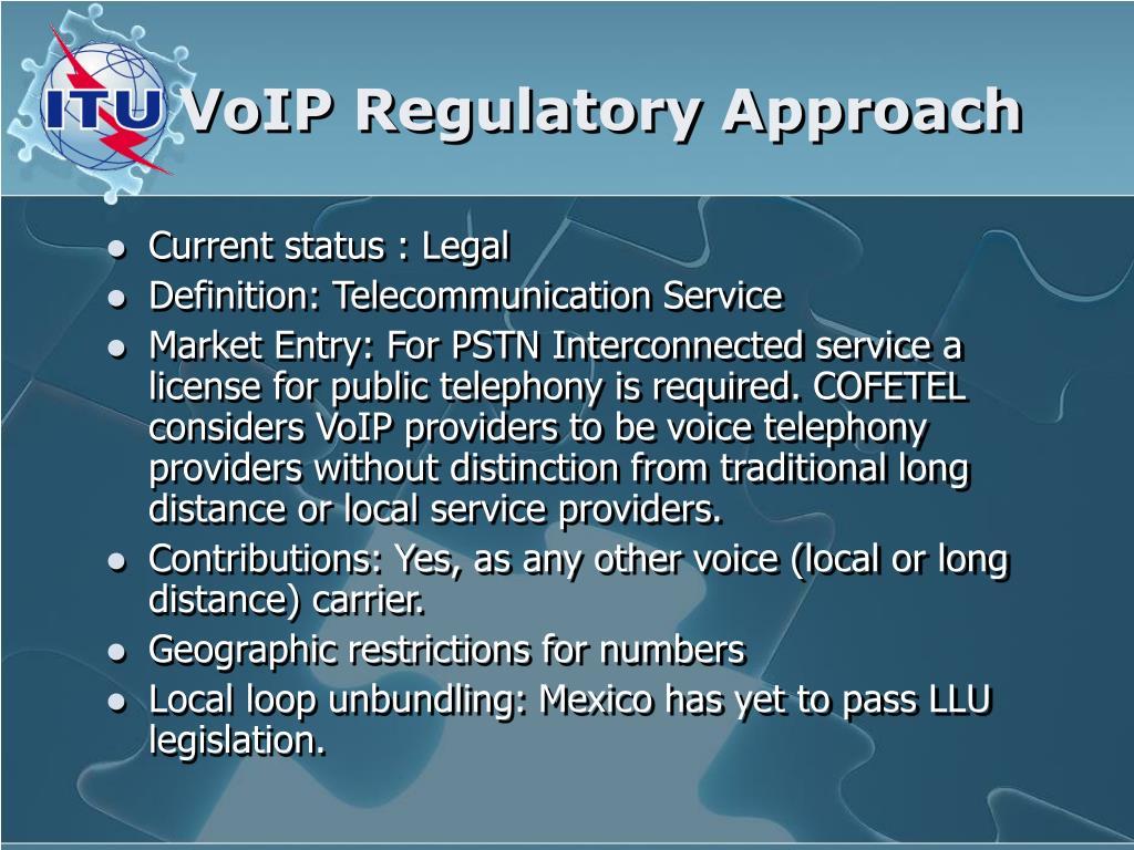 VoIP Regulatory Approach