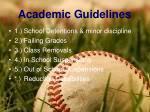academic guidelines