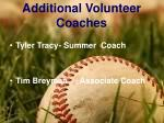 additional volunteer coaches