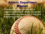 athletic department mission