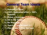 general team ideals