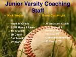junior varsity coaching staff
