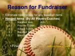 reason for fundraiser