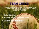 team creed