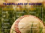 team pillars of success