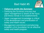 bad habit 5