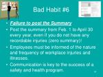bad habit 6