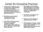 center for innovative practices