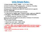 unity simple rules