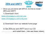 zen and unity