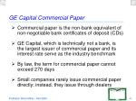 ge capital commercial paper