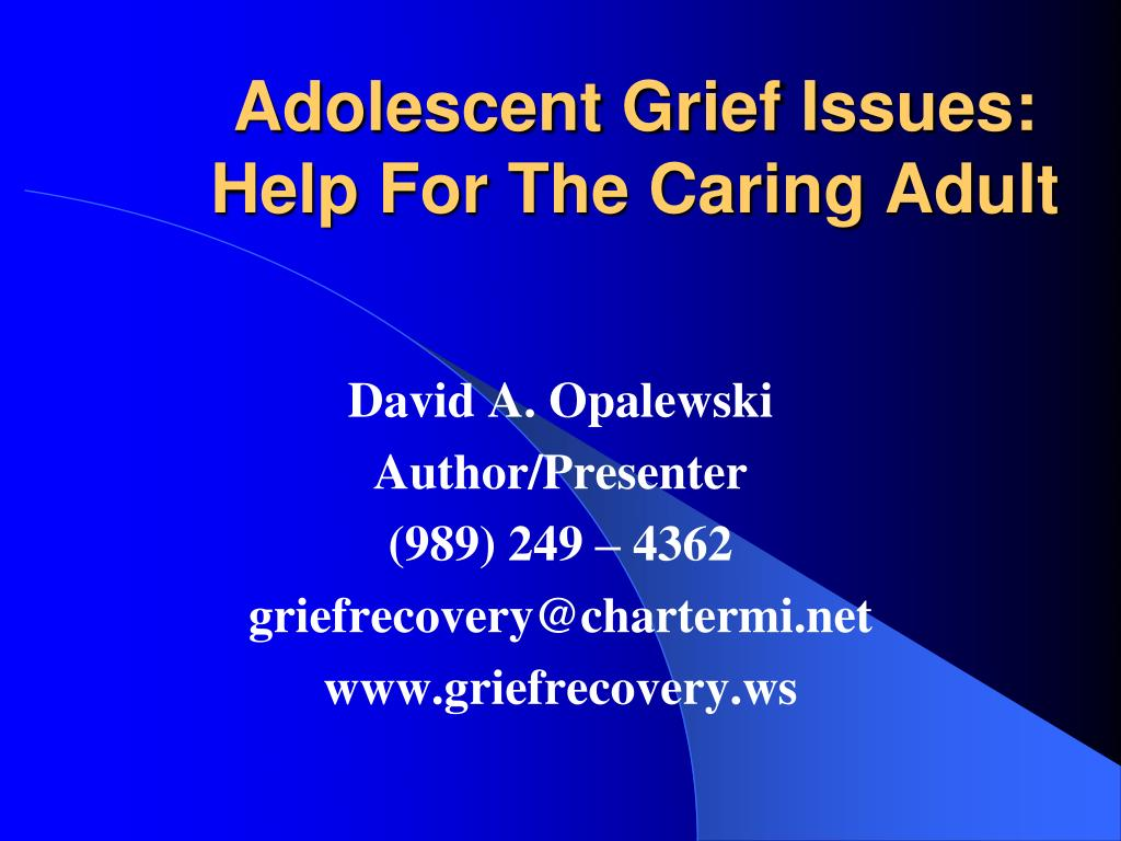 adolescent grief issues help for the caring adult l.