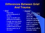 differences between grief and trauma