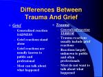 differences between trauma and grief