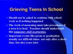 grieving teens in school