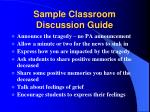 sample classroom discussion guide