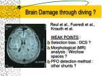 brain damage through diving