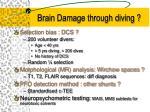 brain damage through diving37