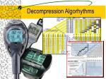 decompression algorhythms