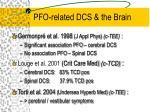 pfo related dcs the brain
