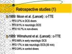 retrospective studies 1