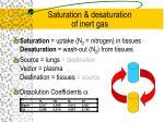 saturation desaturation of inert gas