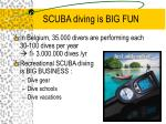 scuba diving is big fun