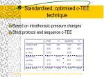 standardised optimised c tee technique