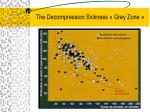 the decompression sickness grey zone