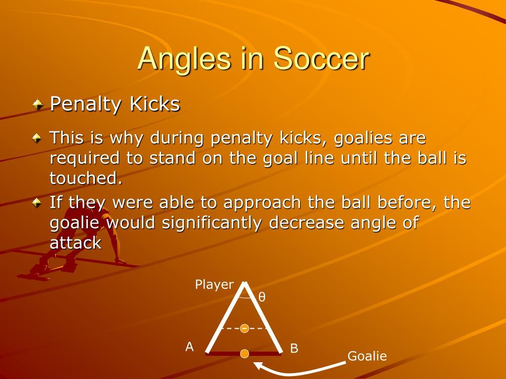 Angles in Soccer